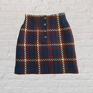 Moussy tartan knit skirt